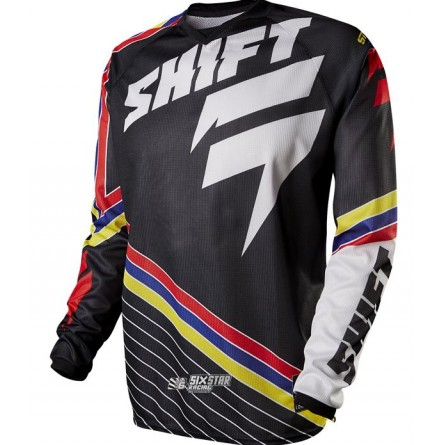 Shift | Strike Stripes Cross-shirt Zwart